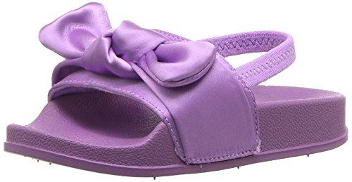 Steve Madden Girls' Tsilky Slide Sandal, Lilac, 8 M US Toddler