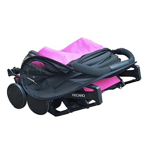 big-time Universal Canopy Baby Stroller Sunshade Cover BreathableLight-proofUPF 50+ UV Protection Stroller Cover for Baby Strollers (Black) by big-time (Image #2)