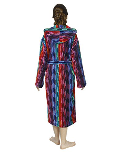 Bown of London Women's Multi Colour Rainbow Coloured Robe Dressing Gown