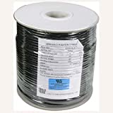 InstallerParts 1000 Ft UL 4 Conductor Black Modular Cable Reel 26AWG