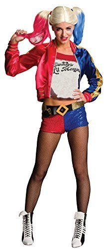 Halloween Costumes Harlequin (Rubie's Women's Suicide Squad Deluxe Harley Quinn Costume, Multi, Large)