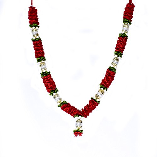 - The Holy Mart Red Ribbon Garland/Mala Haar (M Size) Mala for God in Temple | Mala for Pictures | Home & Temple Decoration