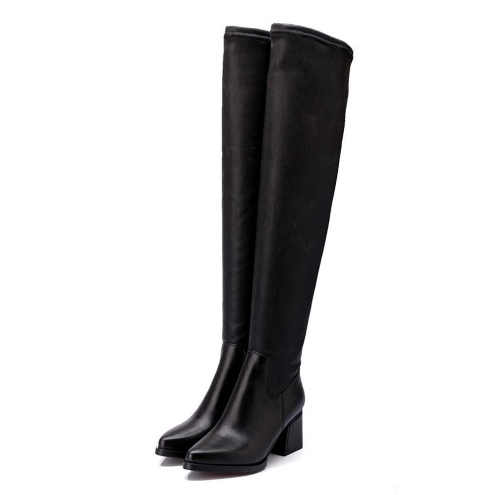 22e2c65a0be07 Amazon.com   Women Over The Knee High Boots Winter Warm Long Thick ...