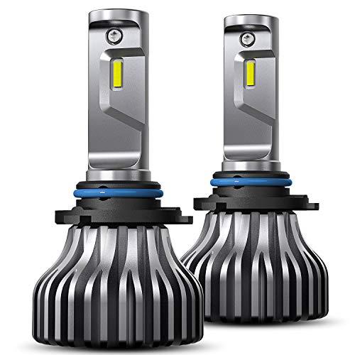 - AUXITO 9006 LED Headlight Bulb 6000K Xenon White 8000Lumens Bright HB4 9006 Fan-less Headlamp Fog Light Bulbs Conversion Kit,Pack of 2