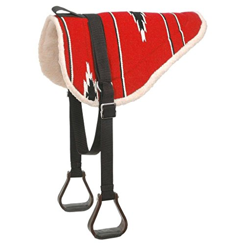 Tough 1 Adult Navajo Bareback Pad, Red/Black (Saddle Back Pad)