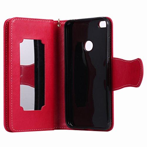 Yiizy Huawei P8 Lite (2017) / Honor 8 Lite / Nova Lite Funda, Chica Repujado Diseño Solapa Flip Billetera Carcasa Tapa Estuches Premium PU Cuero Cover Cáscara Bumper Protector Slim Piel Shell Case Sta