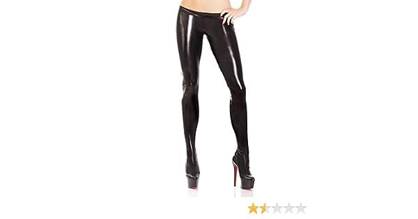 b6caec9b30638 Amazon.com: Coquette Women's Darque Wet Look Footed Leggings: Clothing