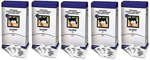 Allegro 3001 Alcohol-Free Respirator Mask Cleaning Wipes, Sold by The Box of 1.000 Wipes (Allegro Fabrics)