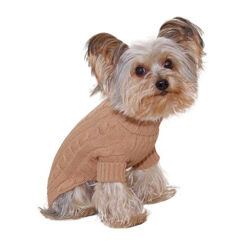 Stinky G Turtleneck Dog Sweater Camel Size #10