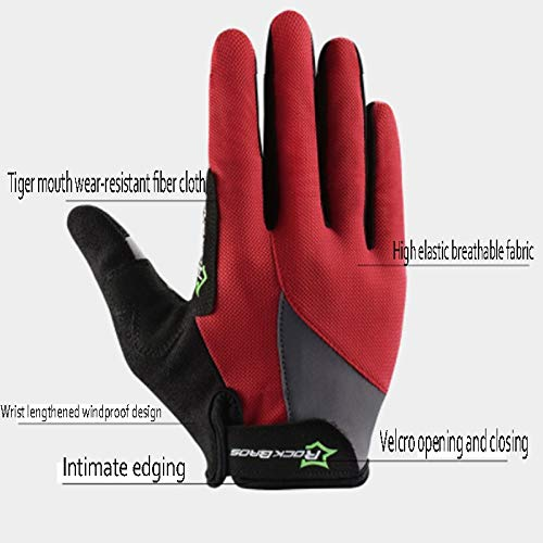 AINIYF Full Finger Gloves | Spring And Autumn Winter Full Fingers Gloves Touch Screen Anti-Slip Full Finger Motorcycle Gloves Cycling Equipment (Color : Black, Size : M) by AINIYF (Image #4)