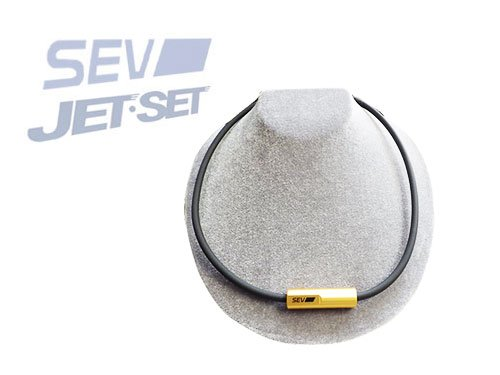 SEV ネックレス ルーパーG  SEV公式ステッカー+JETSETステッカー付 B00I08BNAK 黒 48センチ