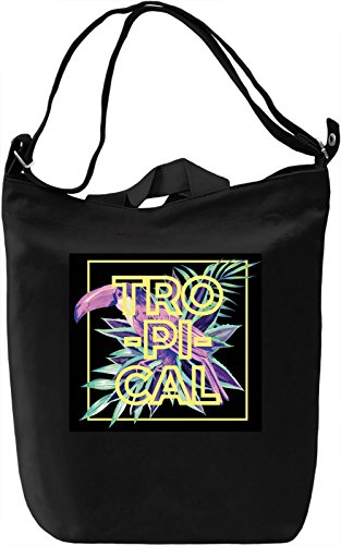 Tropical Print Borsa Giornaliera Canvas Canvas Day Bag| 100% Premium Cotton Canvas| DTG Printing|