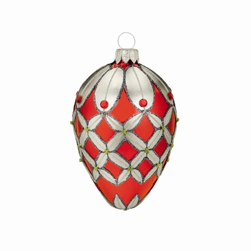 Waterford Crystal Holiday Heirlooms Crimson Colleen Egg Ornament