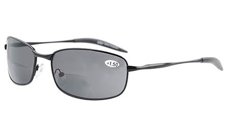 Eyekepper Metallrahmen Fischen Golf Radfahren Fliegen im Freien Bifocal Sonnenbrillen Schwarz +3.0 Mjcti
