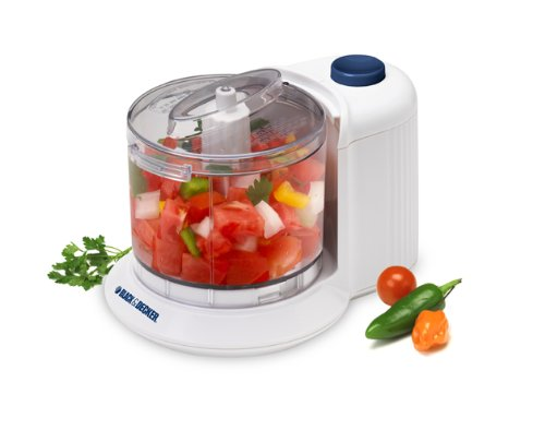 BLACK+DECKER HC306 1-1/2-Cup One-Touch Electric Chopper, Whi