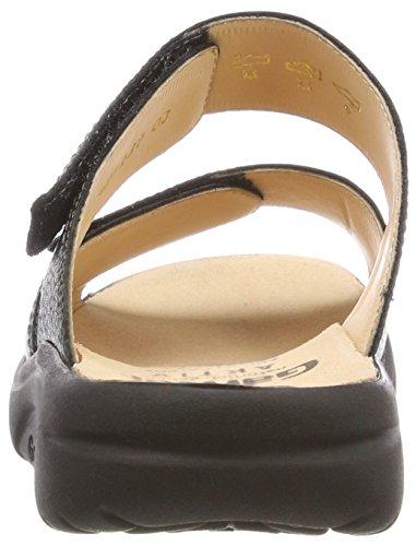 Fabia f Nero Aktiv schwarz Ganter Sandale Donna 0100 Sabot w7gSt
