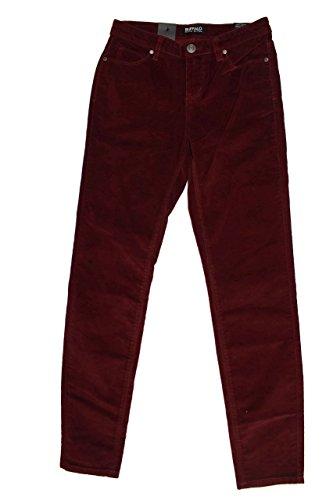 Buffalo David Bitton Women's Brushed Corduroy Skinny Jean (2/26, Burgandy)