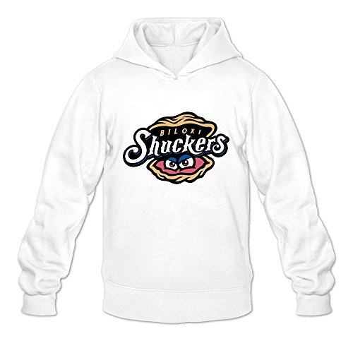 Leberts White Biloxi Shuckers Long Sleeve Hoodies For Mens Size Large -