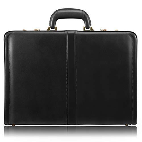 McKlein, V Series, Reagan, Top Grain Cowhide Leather, Leather 3.5' Attaché Briefcase, Black (80445)