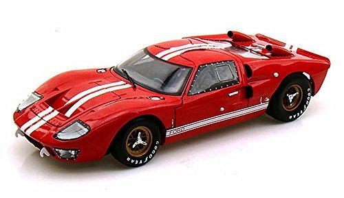 (1966 Ford GT-40 MK II, Red - Shelby Collectibles SC400 - 1/18 Scale Diecast Model Toy Car)