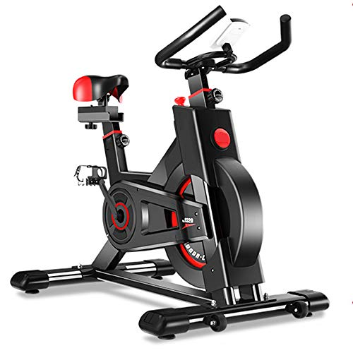 Spinning Bike, Ultra-Quiet Home Magnetic Control Exercise Bike to Lose Weight Pedal Sports Bike, Innovative Design and Safe and Dynamic, High-Performance Internal Magnetic System, Multi-Function LCD