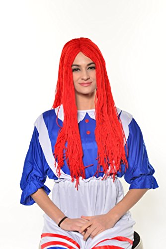 Halloween Cosplay Red Rag Doll Party Wig