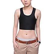 COSYOU Sexy Breathable Buckle Short Chest Breast Binder Trans Lesbian Tomboy