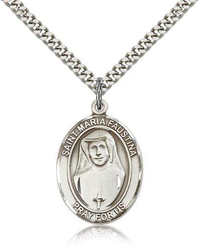 Icecarats Créatrice De Bijoux En Argent Sterling St. Maria Faustina Pendentif 1 X 3/4 Pouces