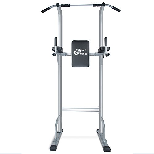 Doitpower Power Tower Free Standing Pull Up Bar Indoor Home Fitness Equipment (grey)