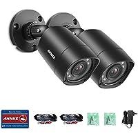 Security Bullet Camera, ANNKE Waterproof 720P HD Home Security Camera, IP66 Waterproof, 66FT Night Vision, (2 packed)