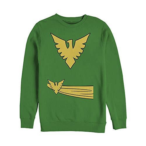 Marvel Men's Halloween X- Men Phoenix Costume Kelly Green Sweatshirt]()