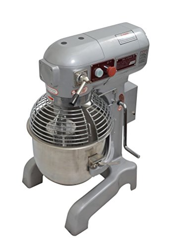Uniworld 20 Qt. Electric Planetary Mixer M Series WITHOUT #12 Attachment Hub, 1.0 H.P., 10-15 lb Flour Capacity, Gear Driven with 3 Speeds, Includes Stainless Steel Bowl, Flat Beater, Wire Whip, and Dough Hook ETL Approved Model UPM-M20-3