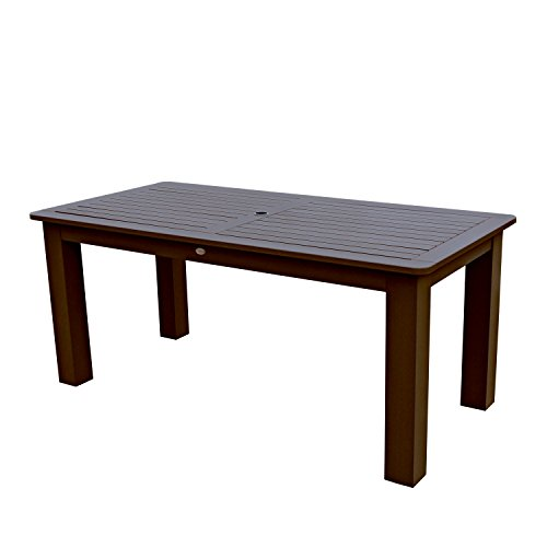 Highwood Lehigh and Weatherly Rectangular Dining Table, 37 by 72-Inch, Weathered Acorn