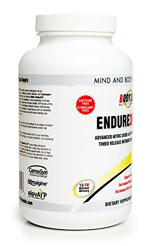 Endure360 2.0. 1 Best Nitric Oxide Booster – Ultra Premium Quality Endurance Performance Supplement with Nitrosigine, Carnosyn Beta Alanine, ElevATP 12-TR – Advanced Nutrient Delivery Technology. Made In The USA. Ingredients Supported By Clinical Studies Research.