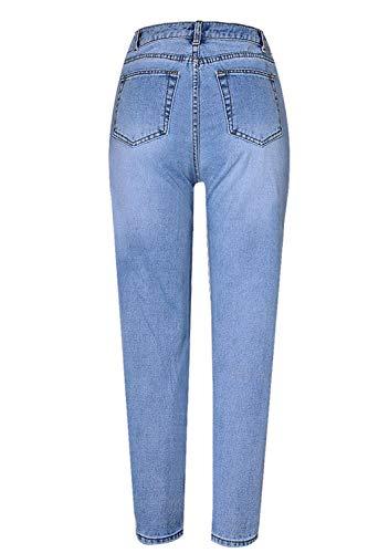 en Perle De Qui Femmes Skinny Les Jeans Blue Pantalon Jean U1ZqTwxA