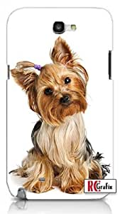 Cute Adorable Yorkshire Terrier Yorkie Dog Apple Iphone 5 Quality TPU Soft Rubber Case for Iphone 5/5s - AT&T Sprint Verizon - White Case