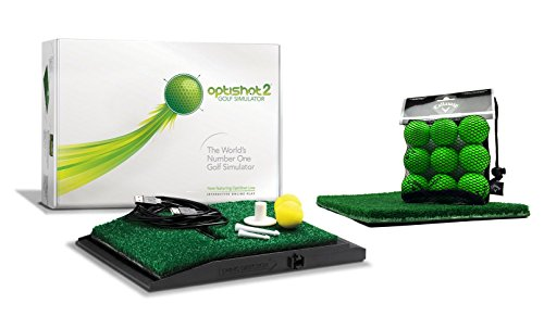Optishot 2 Players Bundle | Includes Optishot 2, Extra Replacement Turf, and 18 Callaway Practice Balls (Mac & PC Compatible)
