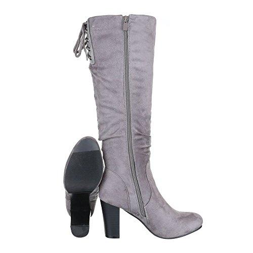 Ital-Design - botas clásicas Mujer gris