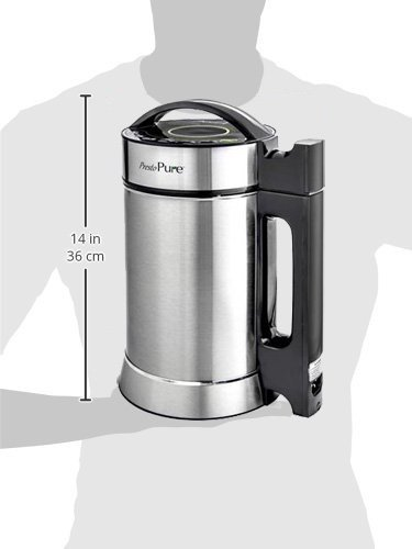 Idavee Brand - Presto Pure IAE15-1.9 Liter Automatic Hot Soy Milk (Almond, Rice, Quinoa Milk) Soup, Porridge & Cold Juice Maker - 2 Layer Stainless Steel - Recipe Booklet 7 1.9 liter capacity (1/2 gallon) - largest on the market - recipe booklet included 7 functions in one machine - make milk, porridge, oatmeal, pureed soup, juice, and more Perfect for nut milk such as almond, cashew, macadamias, Brazil nuts, hazelnut, pecan, and pistachio. Try it with seeds such as hemp, quinoa, pumpkin, sunflower, sesame, and flaxseed. Works for rice, coconut, oat milk too