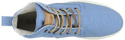 Blackstone CANVAS - Zapatilla alta de lona mujer azul - Blau (Blue)