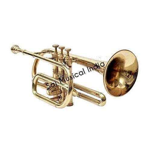 Sai Musical India Co-01, Cornet, Bb, Brass by Sai Musical India