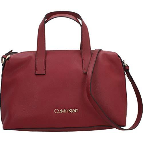 Bolsos Modelo K60k604463 Klein Marca Y Color Calvin Klein Shoppers De Mujer Rojo Mujer Rojo Hombro Para PR6WS5Oqw