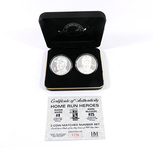 Highland Mint McGwire/Maris Two Troy Ounce Silver Coin Set # out of 2,500