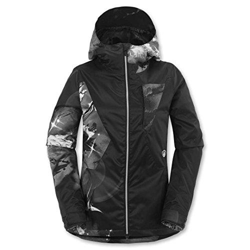 Volcom Junior's Dryas Snow Jacket, Hawk Spirit Print/Blac...