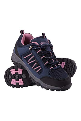 Mountain Warehouse Path Womens Walking Shoes - Ladies Footwear Navy Womens Shoe Size 8 US (Best Shoes For Mountain Hiking)