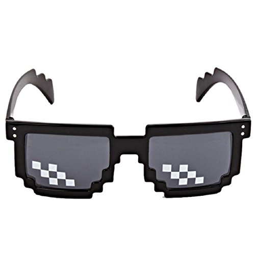Drunbility Sunglasses Toy, Mchoice Thug Life Glasses 8 Bit Pixel Deal With IT Sunglasses Unisex Sunglasses - Hipster Gamer