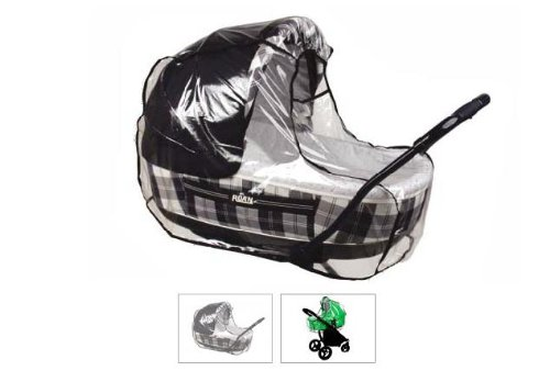Baby Stroller and Bassinet Raincover - Weathershield for Stroller or Classic Pram