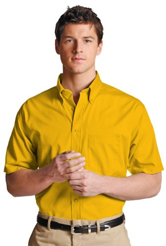 Ed Garments Men's Easy Care Short Sleeve Poplin Shirt