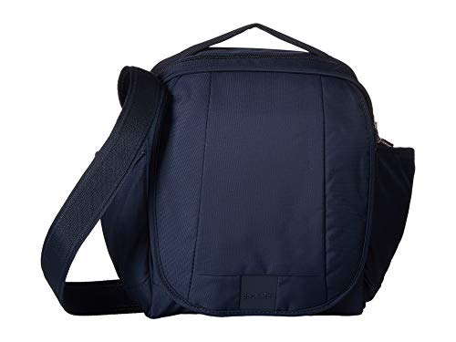- Pacsafe Metrosafe LS200 7 Liter Anti Theft Crossbody/Shoulder Bag-Fits 10 inch Tablet for Women & Men, Deep Navy