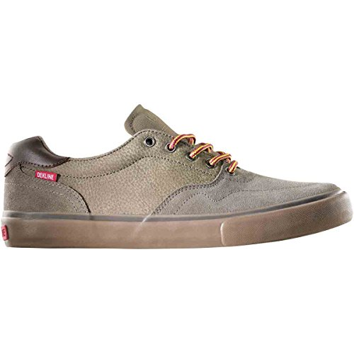 Dekline Men's Wayland Skateboard Shoe Walnut/Gum